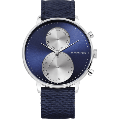 Bering Classic 13242-507 Blue 42 mm Men's Watch - COCOMI
