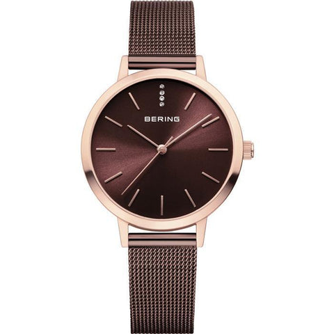 Bering Classic 13434-265 Brown 34 mm Women's Watch - COCOMI