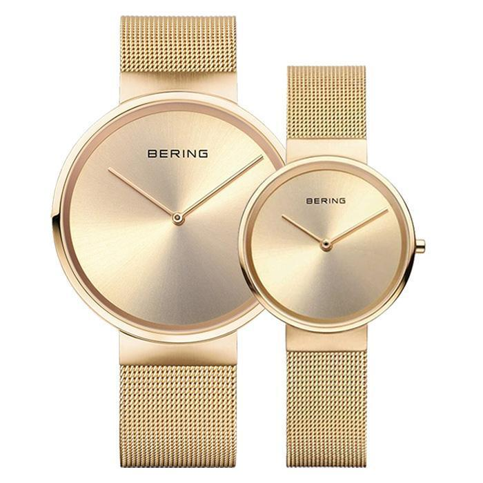 Classic 14539-333 Gold 39 mm Men's Watch X Classic 14531-333 Gold 31 mm Women's Watch-Bering-COCOMI