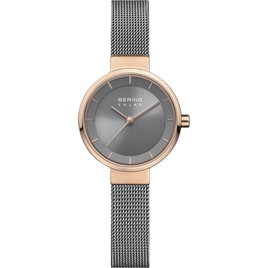 Bering Solar Rose Gold 27 mm Women's Watch (14627-369)-BERING-COCOMI