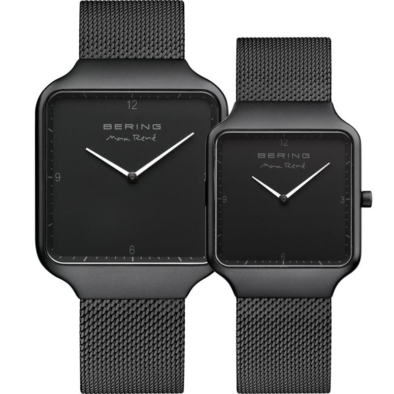 Bering Max René black 36 mm Men's Watch (15836-123) & Bering Max René black 32 mm Women's Watch (15832-123)-Bering-COCOMI