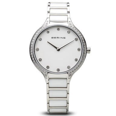 Bering Ceramic Silver 34mm Women's Watch (30434-754)-BERING-COCOMI
