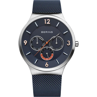Bering Classic Blue Men's Watch (33441-307)-COCOMI