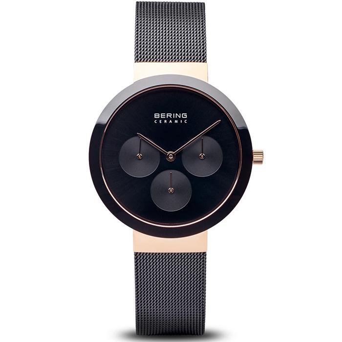 Bering Ceramic Black 36 mm Women's Watch (35036-166)-Bering-COCOMI