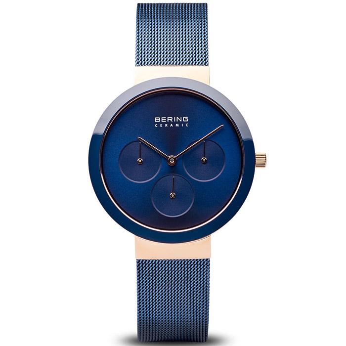 Bering Ceramic Blue 36 mm Women's Watch (35036-367)-Bering-COCOMI