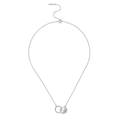Honeycomb Bee Necklace Silver-Olivia Burton-COCOMI