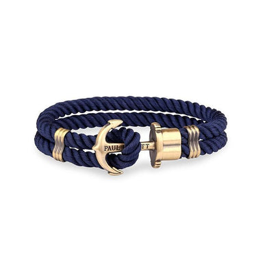 Anchor Bracelet Phrep Brass Nylon Navy Blue-Paul Hewitt-COCOMI