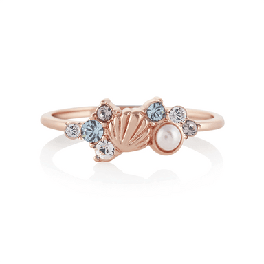 Olivia Burton Under The Sea Rose Gold Women's Ring (OBJSCR13A/OBJSCR13B)-COCOMI