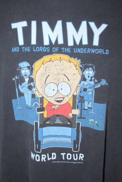 2000 Timmy and the Lords of the Underworld World Tour Vintage Comedy Central TV Show South Park Character T-Shirt