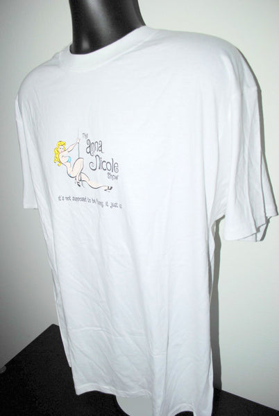2002 The Anna Nicole Show RARE Vintage Cult Classic E! Channel Reality TV Show Promo T-Shirt