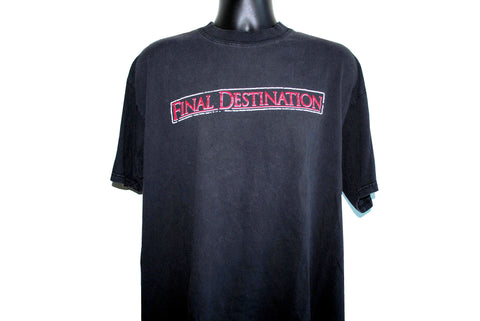 2000 Final Destination Cult Classic Near Death Experience Horror Movie Promo T-Shirt