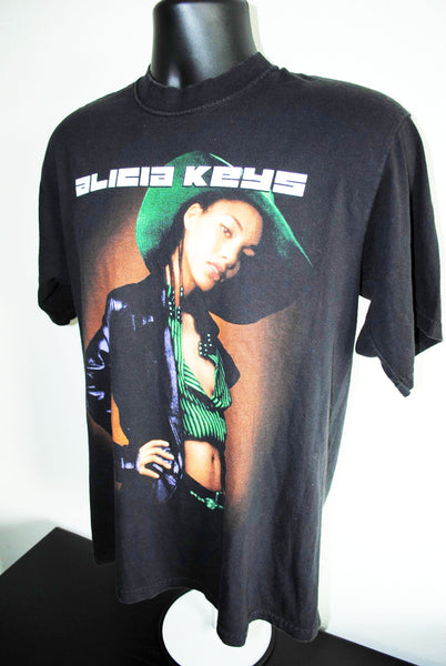 2002 Songs in A Minor Alicia Keys Vintage R&B Hip Hop Concert Tour T-Shirt