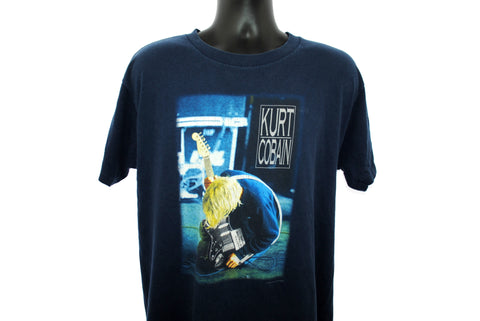 2000 Kurt Cobain Vintage Nirvana Lithium Music Video Photo Classic 90s Pop Culture Seattle Grunge Rock Icon Tribute Promo T-Shirt