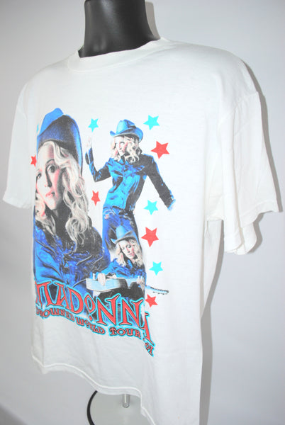 2001 Madonna Drowned World Tour Vintage Don't Tell Me Era Queen Of Pop Music Diva Concert Promo T-Shirt