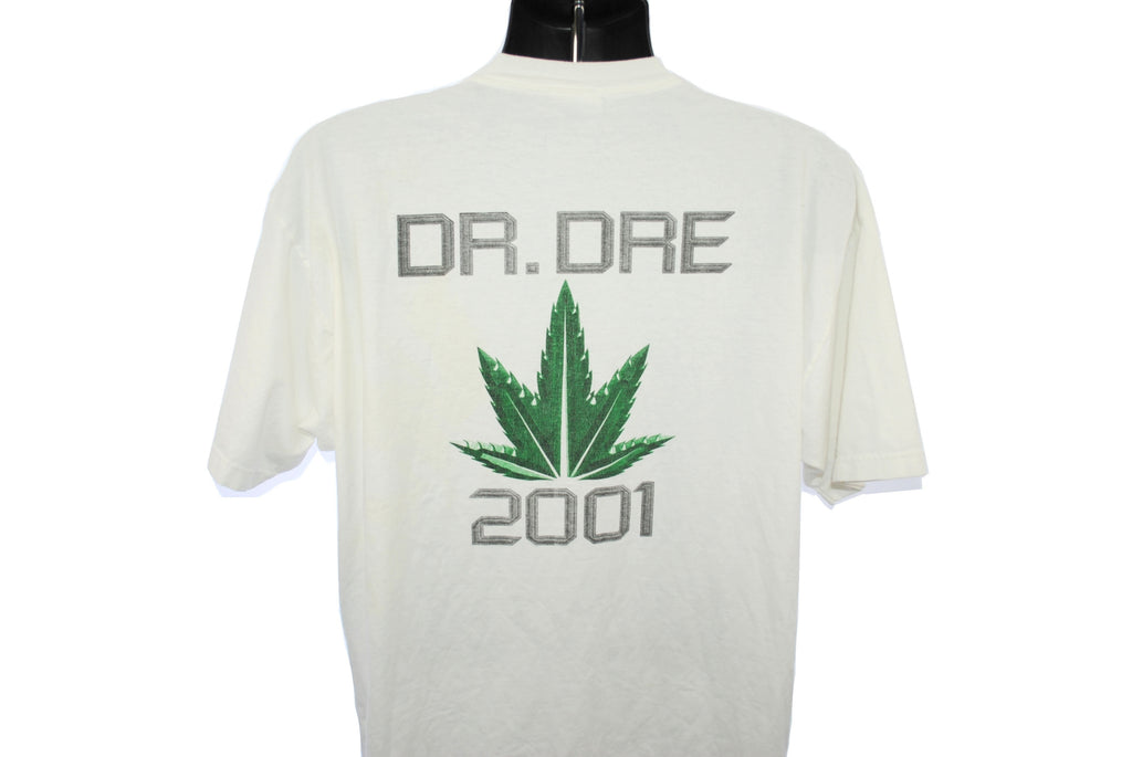 2000 Dr. Dre + Eminem Vintage Aftermath Entertainmen Marshall Mathers LP + The Chronic 2001 Classic Y2k Hip Hop Album Release Promo T-Shirt