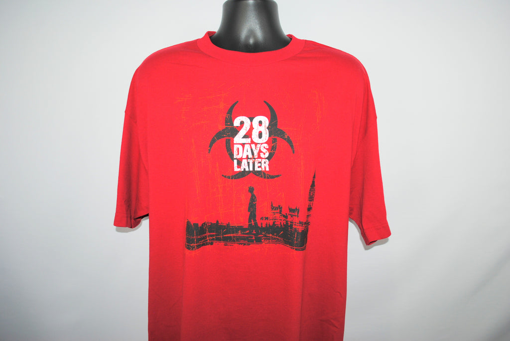 2003 28 Days Later Vintage Danny Boyle Classic UK 00's Doomsday Horror Movie Promo T-Shirt