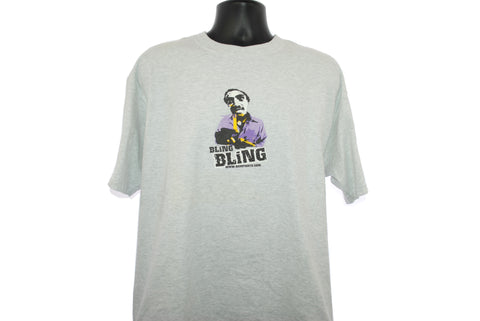 2002 BLING BLING Vintage Bumfights: A Cause For Concern Cult Y2k Controversial Underground Video Character Promo T-Shirt