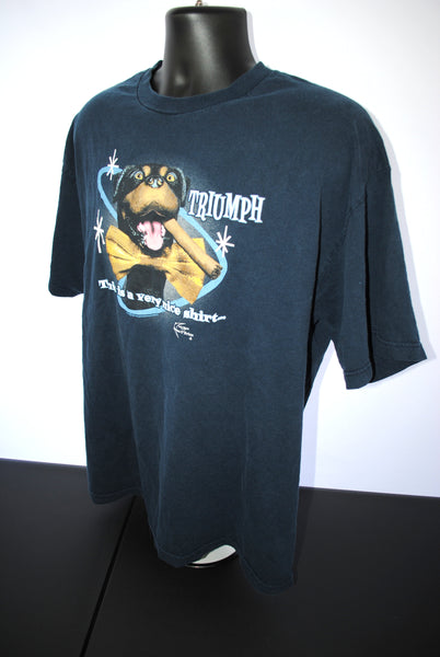 2003 Triumph the Insult Comic Dog Vintage This is a very nice shirt... FOR ME TO POOP ON! Classic Late Night with Conan O'Brien Comedy TV Talk Show Promo T-Shirt