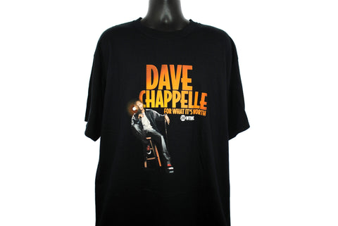 2004 Dave Chappelle For What It's Worth Vintage Chappelle's Show Era Classic Showtime Stand Up Comedy Special TV Show Promo T-Shirt