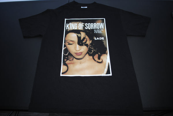 2001 Sade Vintage Lovers Rock Era King of Sorrow Classic Y2k British Soul Album Promo T-Shirt