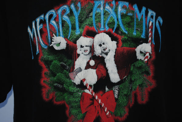 2001 Twiztid Merry Axe-mas Rare Vintage Psychopathic Records Juggalo Holiday Horror Hip Hop Concert T-Shirt