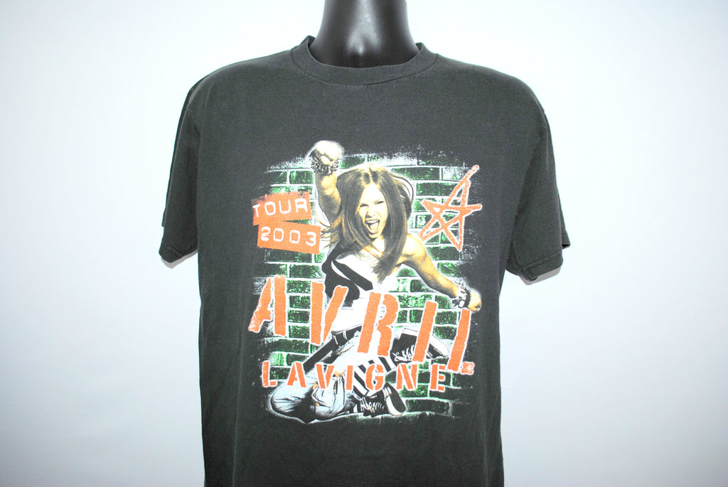 2003 Avril Lavigne Sk8r Boi Tour Rare Hip Hop Style Pop Punk Rock Concert T-Shirt