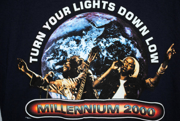 2000 Lauryn Hill & Bob Marley Vintage Turn Your Lights Down Low Classic Reggae Music Chant Down Babylon Remix Album Promo T-Shirt