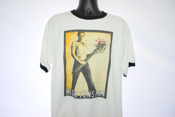 2003 High Tension Rare Vintage Cult Classic French Horror Movie Promo Ringer T-Shirt
