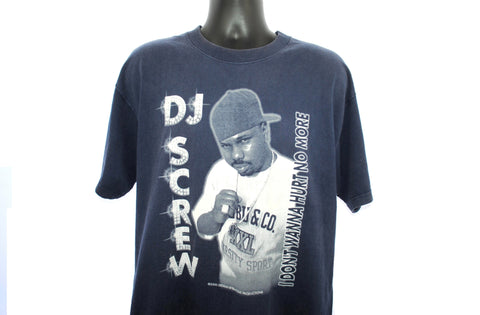 2000 R.I.P. DJ Screw Vintage I Don't Wanna Hurt No More Classic Houston Texas Hip Hop Chopped and Screwed Legend Tribute T-Shirt