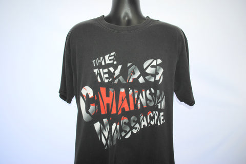 2003 The Texas Chainsaw Massacre Rare Vintage Blue Grape Brand Classic 70s Leatherface Horror Movie Promo T-Shirt