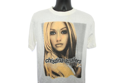 2000 Christina Aguilera Vintage Come On Over Baby (All I Want Is You) Era Y2k Tour with Destiny's Child Classic Pop Music Concert T-Shirt