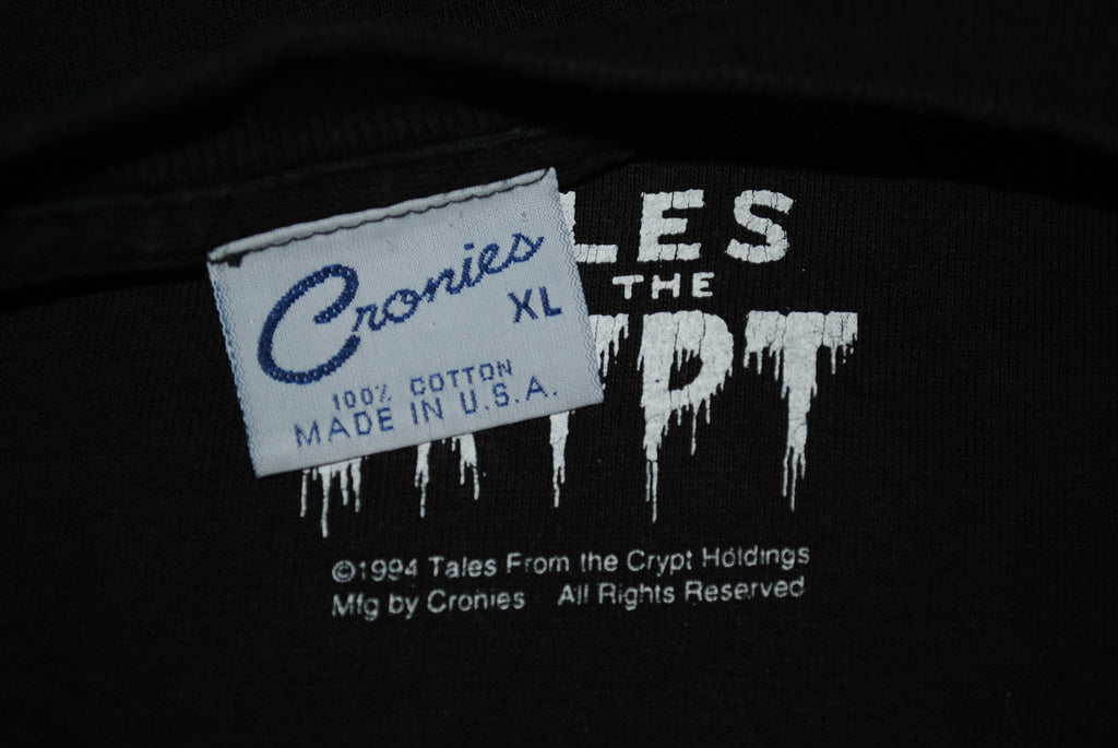 1994 Tales From The Crypt Rare Vintage Crypt Keeper Cult Classic 90's HBO  Horror TV Show Live Action Comic Book Series T-Shirt