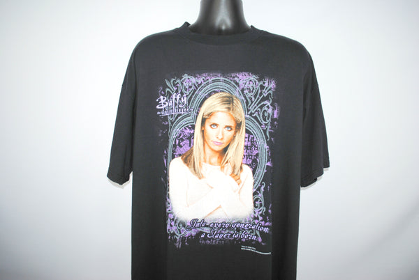 2000 Buffy the Vampire Slayer Into Every Generation A Slayer Is Born Vintage Cult Classic Science Fiction Teen Melodrama Horror TV Show Promo T-Shirt