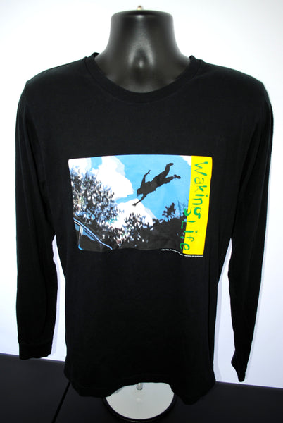 2001 Waking Life Vintage Wiley Wiggins + Richard Linklater Cult Austin, TX Animated Existential Indie Film Long Sleeve Movie Promo T-Shirt