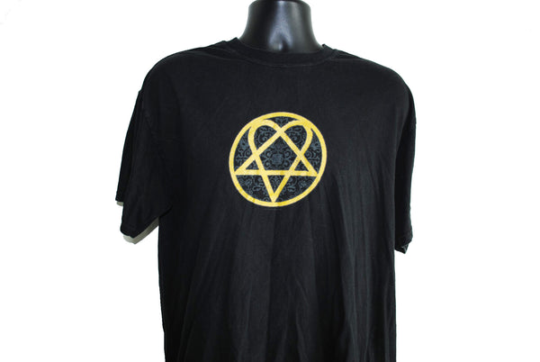 2003 Love Metal HIM Vintage Classic Heartagram Logo Goth Mallpunk Rock Album T-Shirt