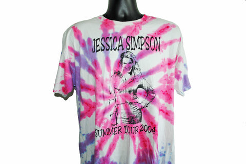 2004 Jessica Simpson Summer Tour Vintage Homemade Bootleg Good Morning America MTV Newlyweds Star Pop Music Concert T-Shirt