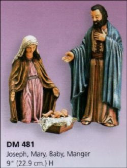 Nativity Scene - Joseph, Mary, Baby Jesus