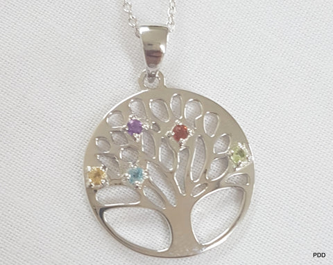 Sterling Silver Tree of Life Pendant & Chain