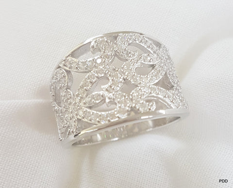 Sterling Silver Amor Ring