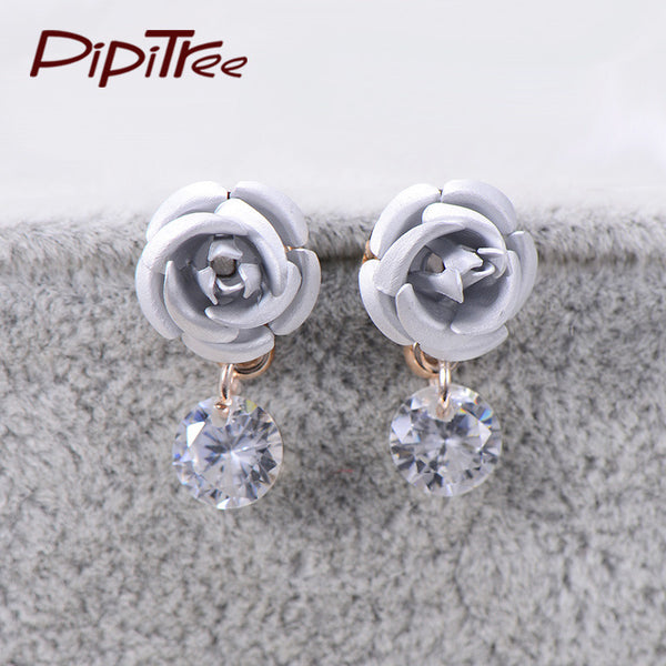 Drop roses earrings. FREE shipping