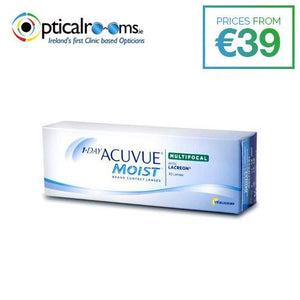 1-Day Acuvue Moist Multifocal Daily Contct Lenses LACERON Technology