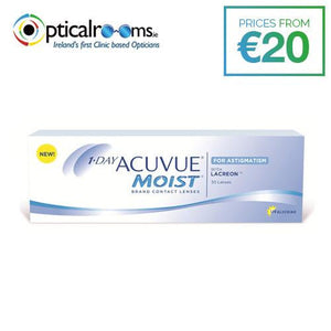 1-Day Acuvue Moist for Astigmatism Daily Contact Lens Blink Stabilised Design