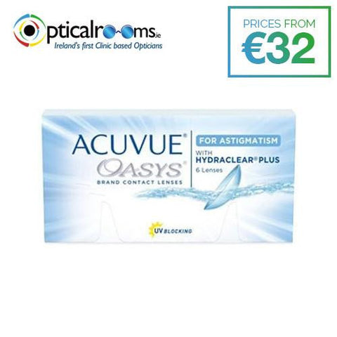 Acuvue Oasys for Astigmatism Contact Lenses Two Weekly Disposables Hydraclear Plus Technology