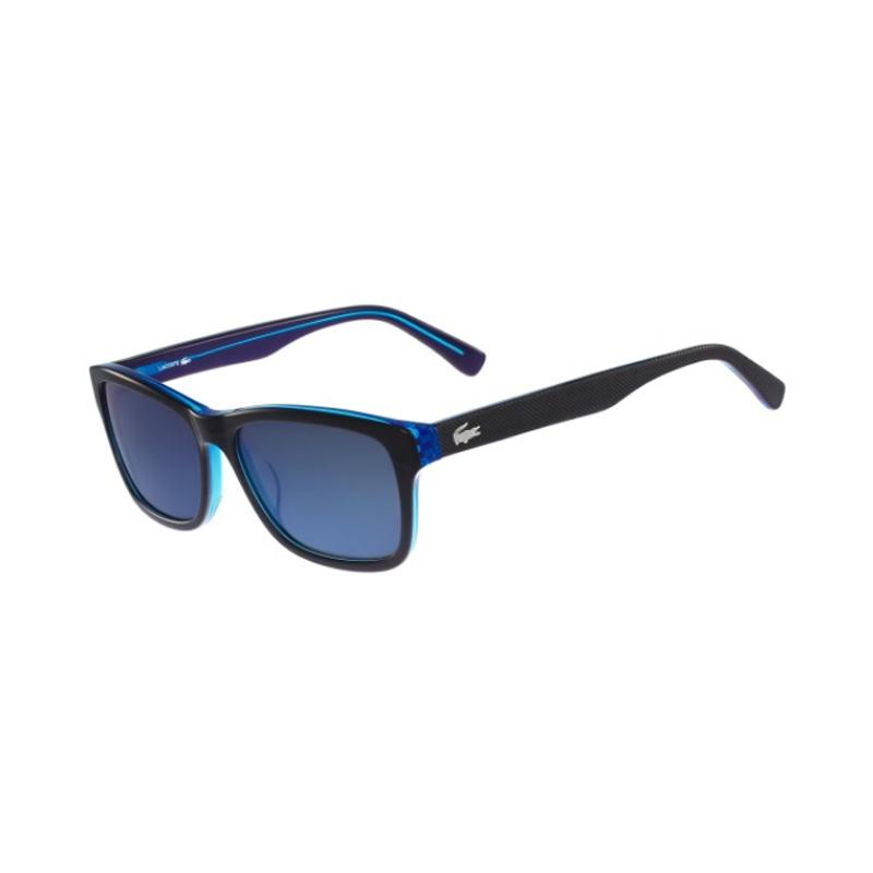 LACOSTE Designer Sunglasses Square BLACK/BLUE 19168