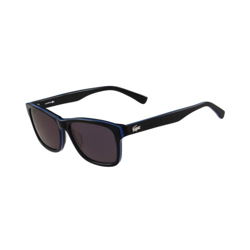 LACOSTE Designer Sunglasses Square BLACK/BLUE/BLACK 19168