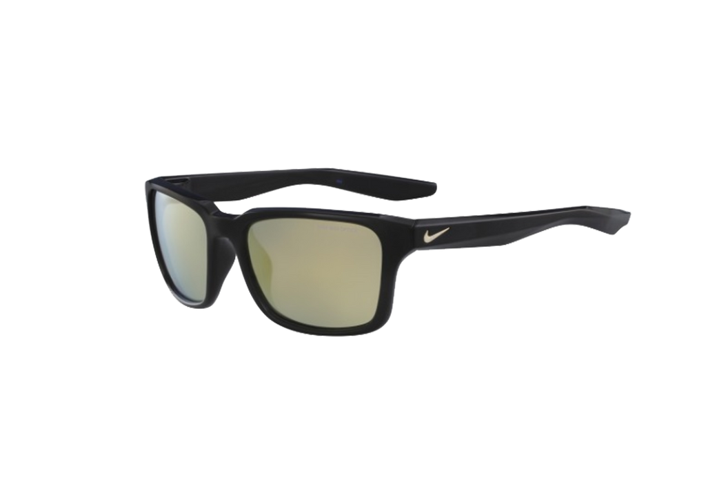 NIKE Sports Sunglasses NIKE ESSENTIAL SPREE M EV1004 BLACK W/GRY ML GOLD FLASH LENS