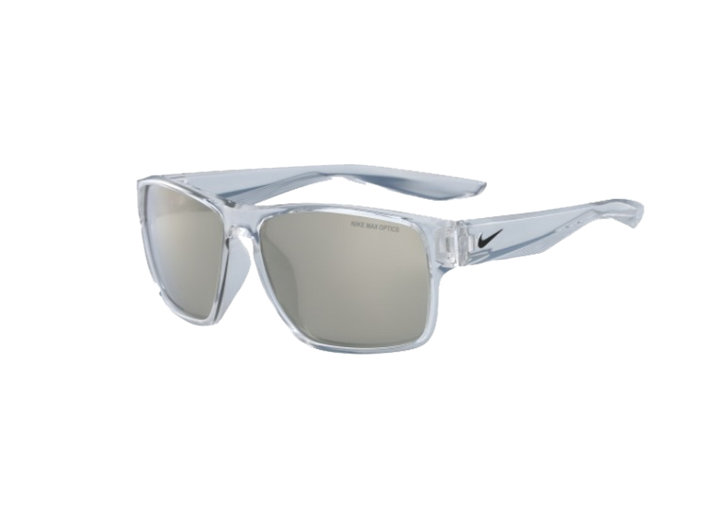 NIKE Sports Sunglasses NIKE ESSENTIAL VENTURE M EV1001 CLEAR W/GREY SUPER FLASH LENS