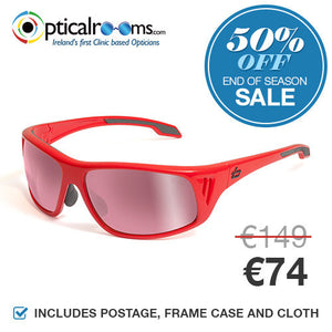 Bolle - Rainier 11550 Shiny Red Designer Sunglasses