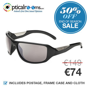 Bolle - Smart 11642 Shiny Black Polarised Designer Sunglasses