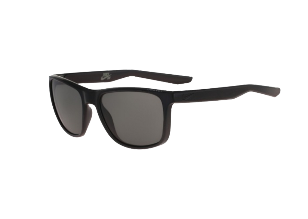 NIKE Sports Sunglasses UNREST EV0921 BLACK/MATTE BLACK W/GREY LENS